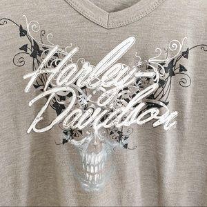 Harley-Davidson Tops - Harley Davidson Grey Long Sleeve Graphic Hoodie